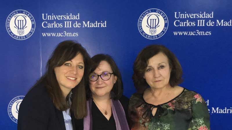 Ana Mancho ha presentado comunicaciones relacionadas con su tesis en diferentes foros como la Universidad Carlos III de Madrid