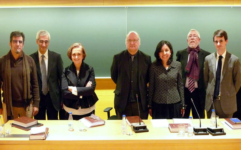 Formando parte de un tribunal de tesis doctoral en la Universidad de Navarra