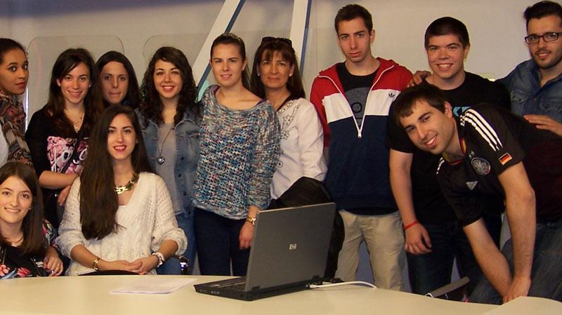 Con el alumnado en TVE 2014