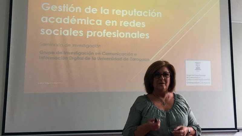 Seminario de investigación GICID impartido por la Dra. Iniesta